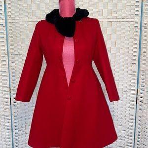 Girls Chasing Fireflies Red Winter Dress Coat Size 12